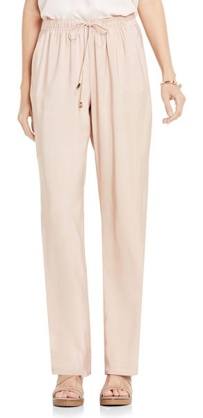 VINCE CAMUTO drawstring wide leg pants in coral sands - In a soft and stretchy fabric, these easy-fitting lounge...