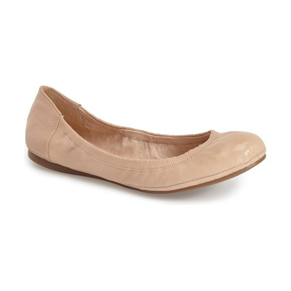 Vince Camuto ellen flat in powder blush leather - Soft, streamlined leather, suede or tactile calf-hair...