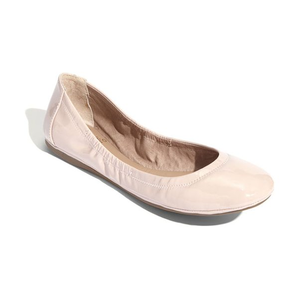 Vince Camuto ellen flat in bisque patent - Soft, streamlined leather or tactile calf-hair and an...