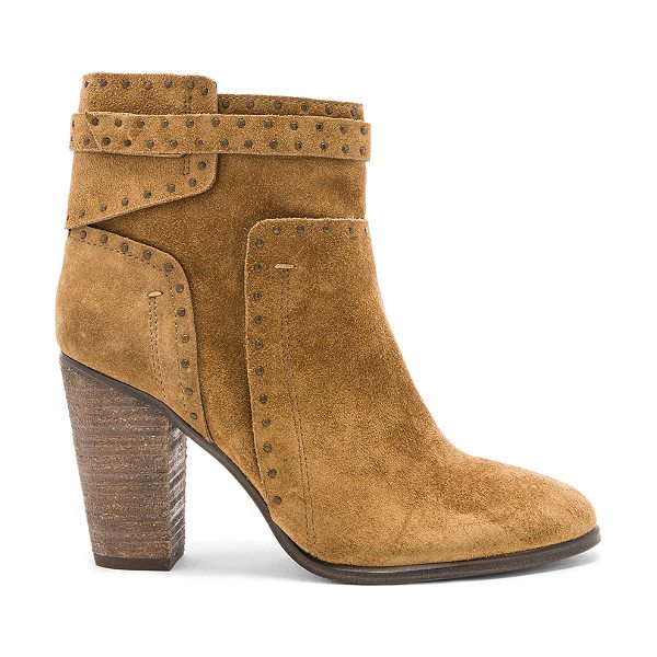 Vince Camuto Faythes Booties in tan - Suede upper with man made sole. Side zip closure. Flat...