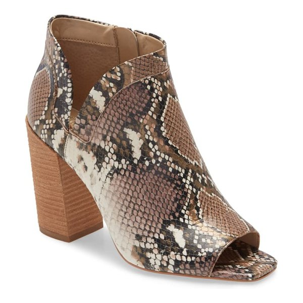 Vince Camuto fedrilla open toe bootie in brown