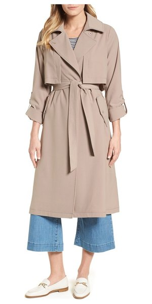 Vince Camuto fluid trench coat in clay - Less structured than a traditional trench, this long...