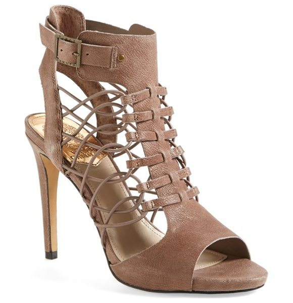 Vince Camuto fossel sandal in smoke taupe - Looped, elasticized cords lend a foot-flattering fit to...