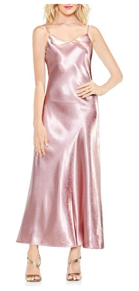 Vince Camuto hammered satin maxi slipdress in rose taupe - Flash back to '90s glam this party season with this...