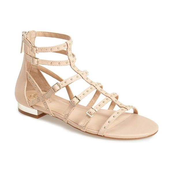 Vince Camuto hevelli studded leather gladiator sandal in beige