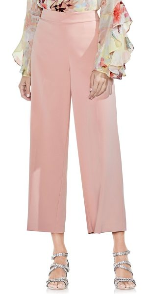 Vince Camuto high-waist crop pants in wild rose - Ultra-flattering and oh-so-chic, these high-waist...