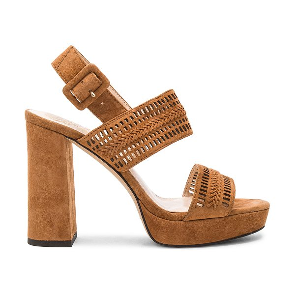 "VINCE CAMUTO Jazelle Heel - ""Suede upper with man made sole. Ankle strap with buckle..."