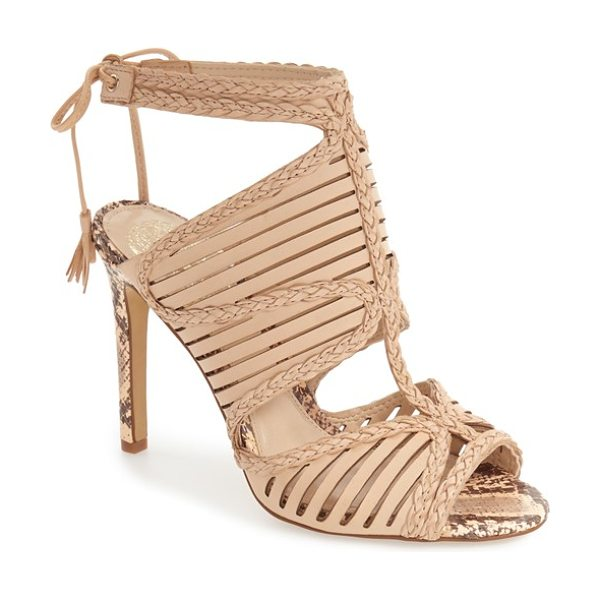 Vince Camuto kabira strappy sandal in au natural leather
