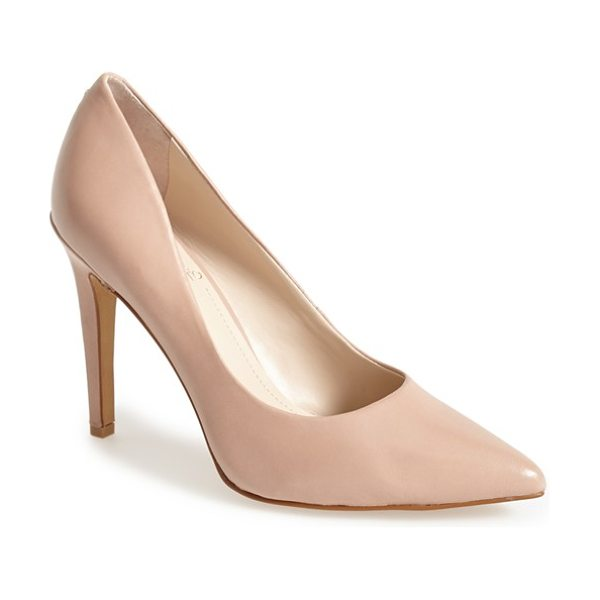Vince Camuto kain pump in sandbar - A timeless pump updated with a pointed toe is set atop a...