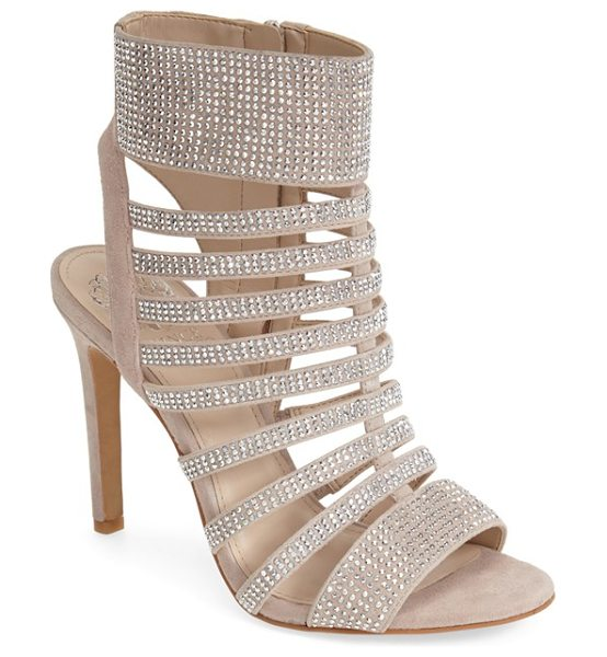 VINCE CAMUTO katal crystal sandal - Sparkling crystals illuminate the slim cage straps of a...
