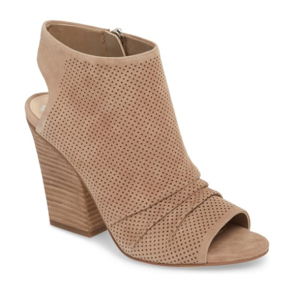 Vince Camuto kentvi sandal in french taupe suede - Make a modern statement in a block-heel sandal featuring...