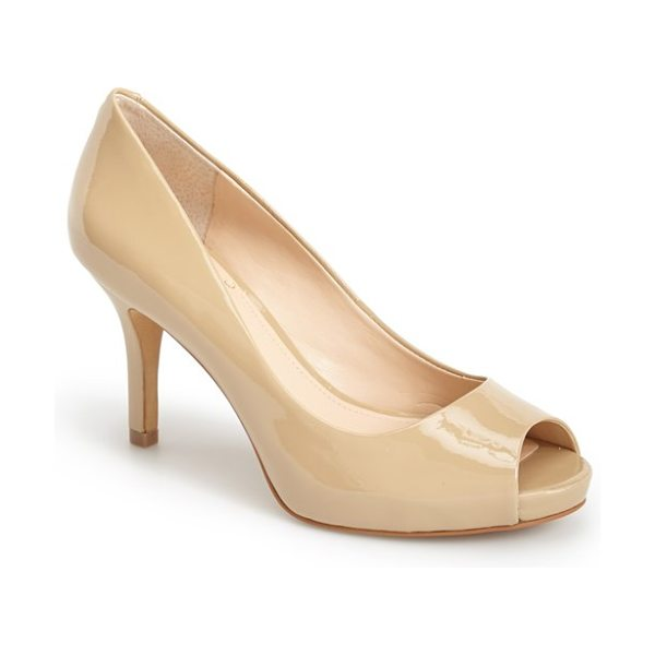 Vince Camuto kiley peep toe platform pump in nude - A peep-toe pump that's versatile enough to go from the...