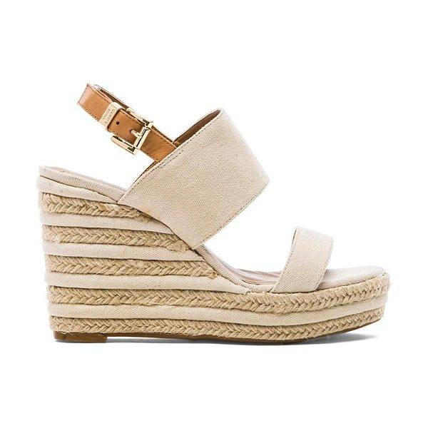 "Vince Camuto Loran wedge in beige - Canvas upper with rubber sole. Wedge measures approx 4""""..."
