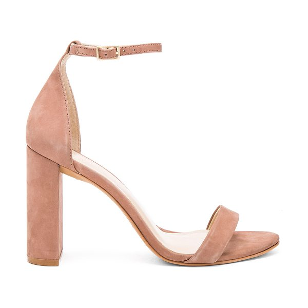 Vince Camuto Mairana Heel in mauve - Suede upper with man made sole. Ankle strap with buckle...