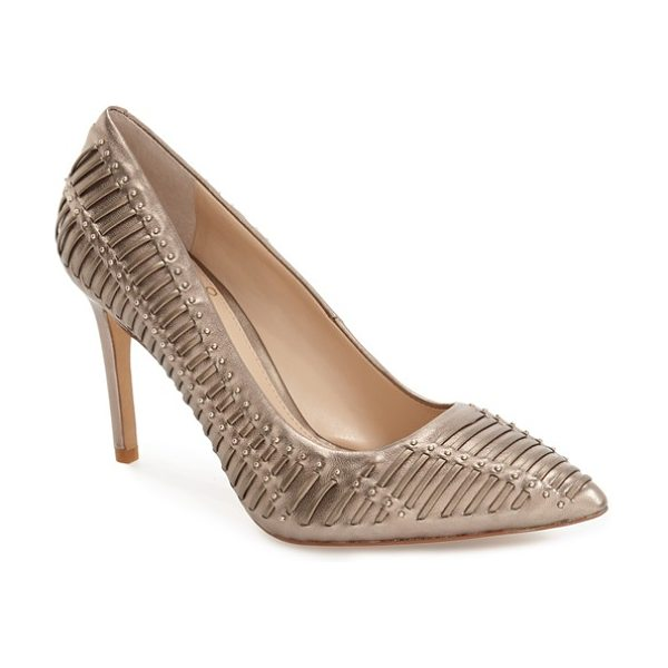 Vince Camuto 'narissa' pump in ash bronze - All eyes will be on you in this striking, pointy-toe...