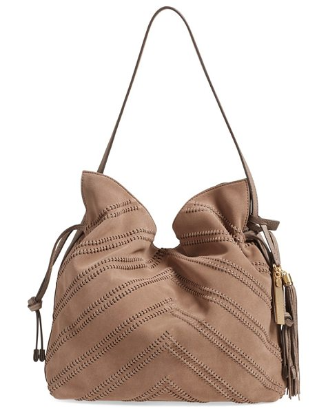 Vince Camuto Nella leather hobo bag in mink
