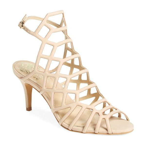 Vince Camuto 'paxton' slingback sandal in nude leather - Geometric strap placement and a high-set slingback strap...