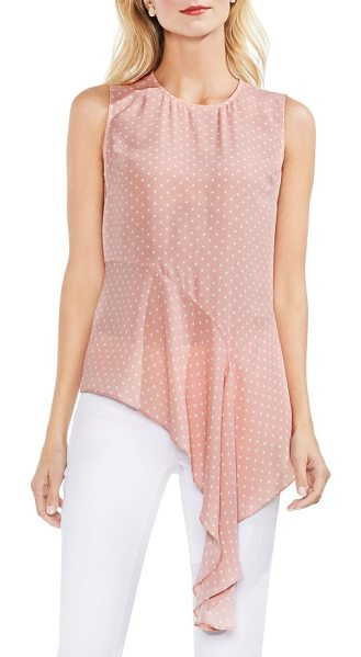 Vince Camuto poetic dots drape hem blouse in wild rose - Playful polka dots bring lighthearted appeal to this...