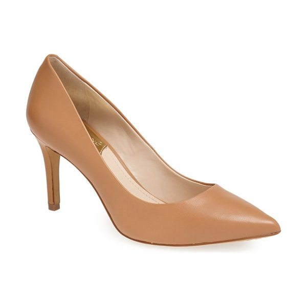 Vince Camuto ressamae leather pump in outback - Graceful curves culminate in a pointed toe on a...
