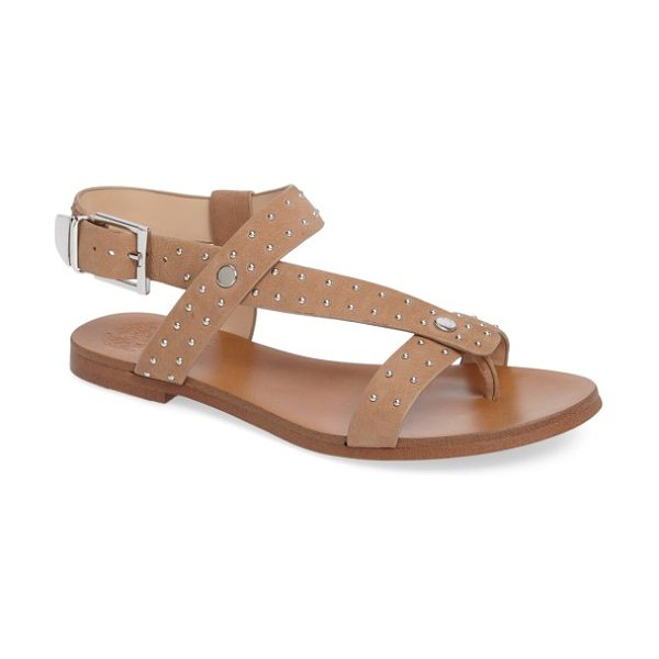 VINCE CAMUTO ridal sandal - Rounded silvery studs adorn the leather straps of a...
