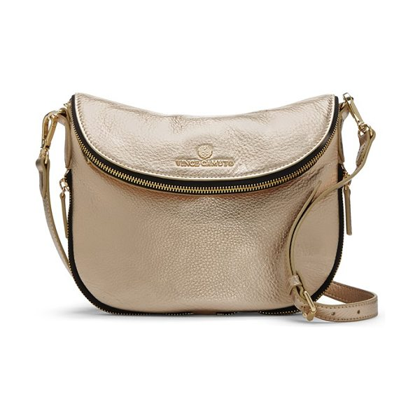 Vince Camuto Rizo crossbody bag in pale gold - A slightly slouched profile and richly textured leather...