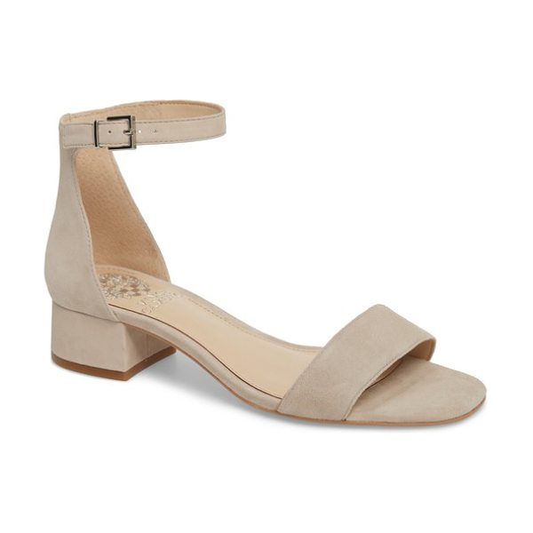 Vince Camuto sasseta sandal in beige - A perfect block heel adds just-right height to a chic...