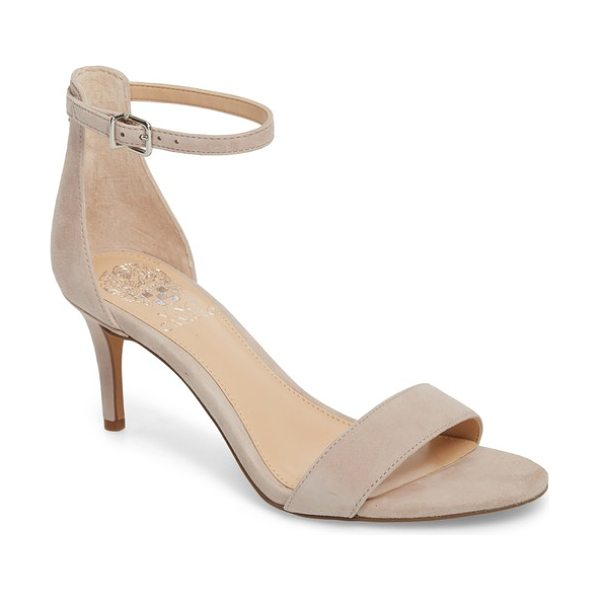 Vince Camuto sebatini sandal in tipsy taupe suede - A slender heel adds just-right height to a barely there...