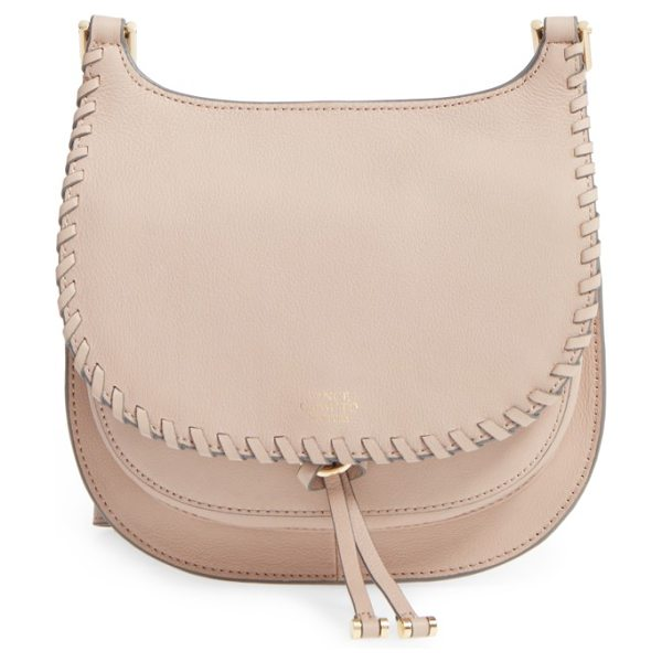 VINCE CAMUTO small lidia leather crossbody bag - Whipstitch trim adds a subtle touch of vintage style to...