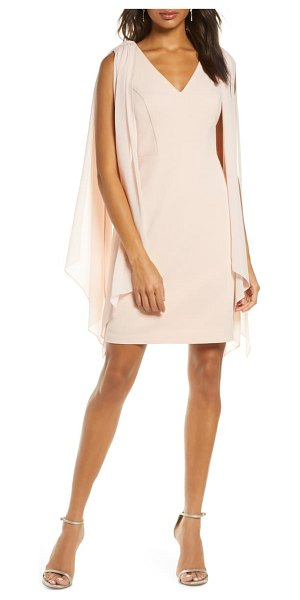 Vince Camuto souffle cape sleeve cocktail dress in pink