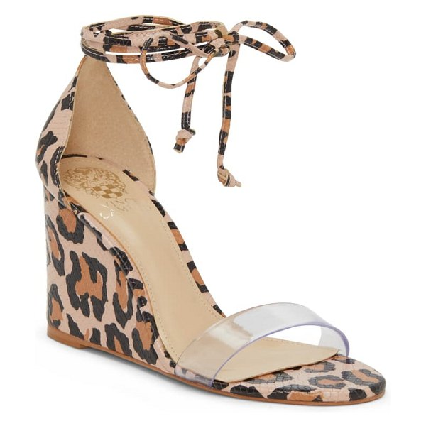 Vince Camuto stassia wraparound wedge sandal in brown