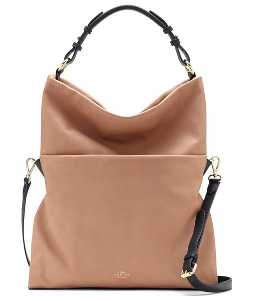 Vince Camuto Sydni hobo in burnt toffee/ graphite - Versatile and effortlessly chic, this smooth leather bag...