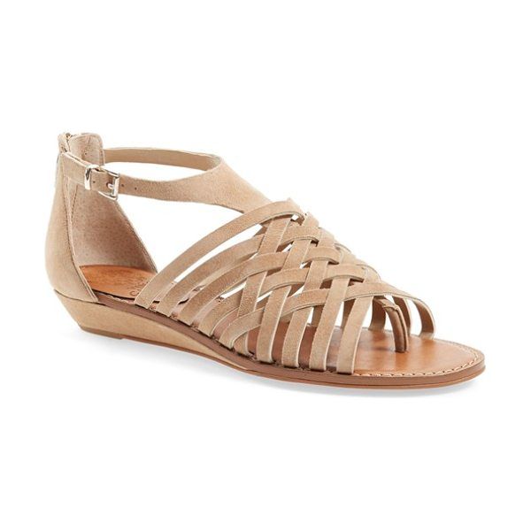 Vince Camuto syndia sandal in sandy lane - A trend-savvy sandal with thin woven straps cut from...