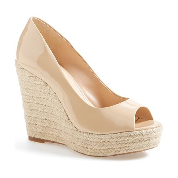 VINCE CAMUTO totsi peep toe espadrille wedge - Blending the best of the season's trends, this peep-toe...