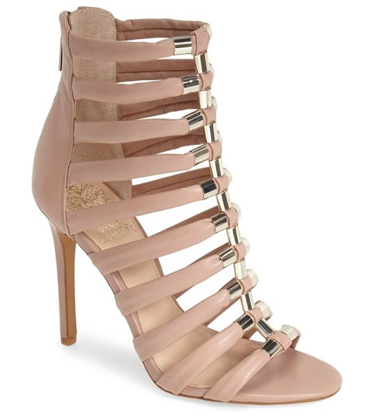 Vince Camuto troy gladiator sandal in sandbar - Gilt hardware accentuates the laddered silhouette of a...