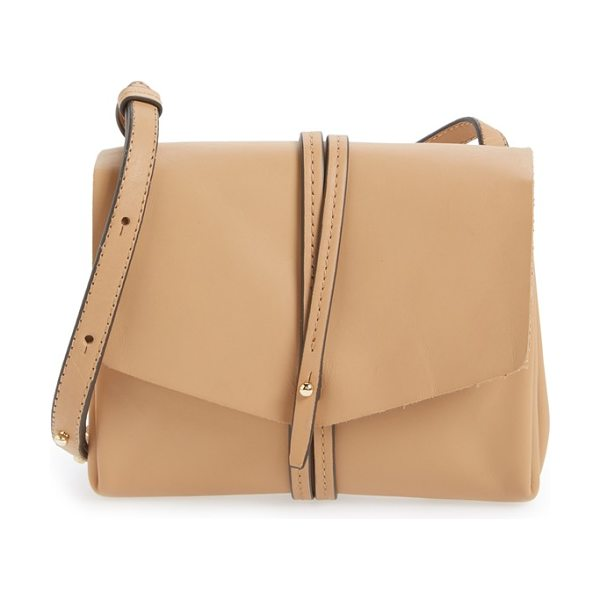 Vince Camuto Tuck leather crossbody bag in natural vachetta - A slim crossbody bag cut from supple leather makes for a...