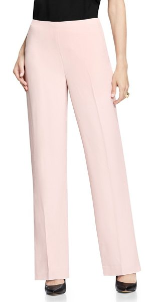 Vince Camuto wide leg pants in hush pink - Ballet-pink pants cut with a flowing wide-leg silhouette...