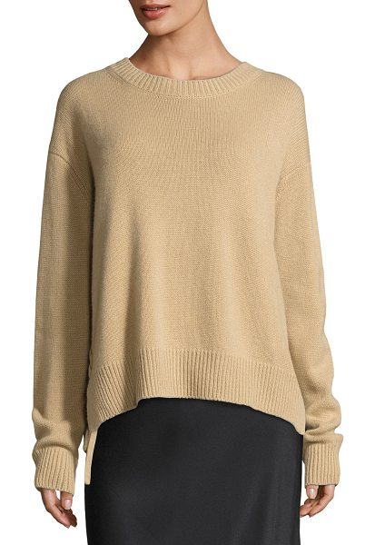Vince Cashmere Lace-Up Pullover Sweater in camel - Vince cashmere sweater. Ribbed neck, hem, and cuffs....