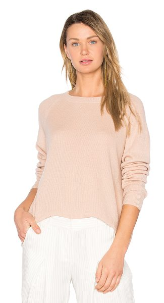 Vince Cashmere Pullover in peach - Cashmere blend. Hand wash cold. Knit fabric....