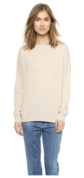 Vince Cashmere pullover in heather khaki - Fine knit cashmere brings a luxurious feel to this...