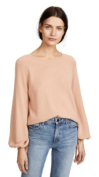 Vince cashmere sweater in blush - Fabric: Fine knit Pullover style Waist-length style Crew...