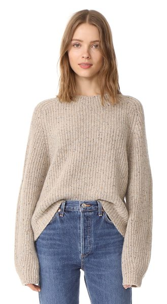 VINCE cropped saddle pullover - This speckled Vince sweater has a relaxed, cropped...