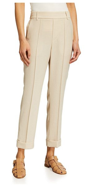 Vince Cuffed Tapered Pull-On Pants in sandstone