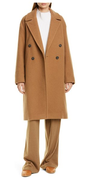Vince double breasted wool blend coat in beige