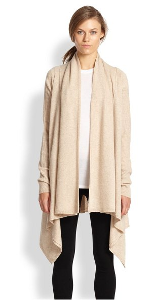 Vince Draped wool/cashmere cardigan in heatherkhaki - This understated cardigan is cut from a soft blend of...