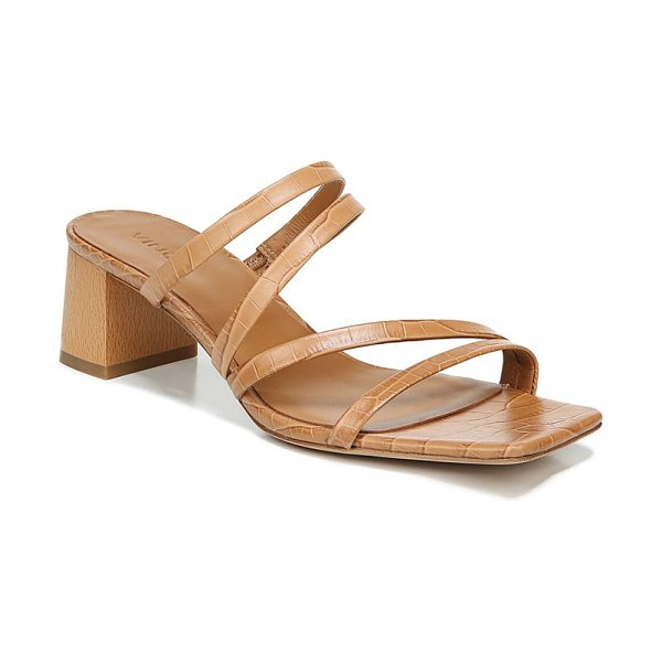 Vince elita block heel slide sandal in brown