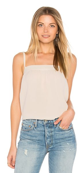 Vince Embroidered Cami in cream - 100% silk. Dry clean only. Adjustable shoulder straps....