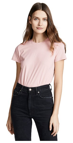 Vince essential tee in desert rose - Fabric: Jersey T-shirt style Waist-length style Crew...