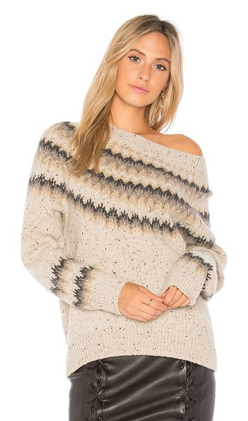 Vince Fair Isle Sweater in oatmeal - Cashmere blend. Dry clean only. Rib knit edges....