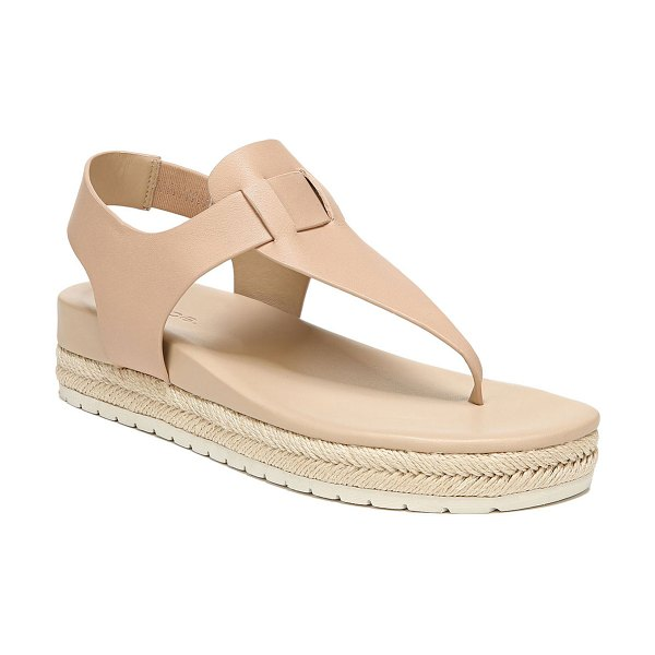 Vince Flint Softy Leather Thong Sandals in beige
