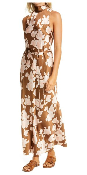 Vince floral tapestry maxi dress in brown
